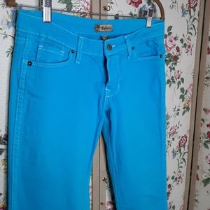 Aphrodite turquoise color skinny jeans